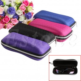 1 PC Eyewear Protector Box Protable Rectangle Zipper Sunglasses Hard Eye Glasses Case Christmas