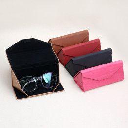 1 PC Protable Light Triangular Fold  Glasses Case Eyeglass Sunglasses Protector Box