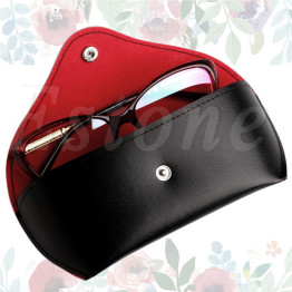 1 pc Protable Soft Bag Buckle Sunglasses Hard Eye Glasses Case Eyewear Protector Box
