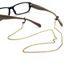 1pc Reading Glasses Anti-slip Chain Cords Holder Sunglasses Spectacles Metal Chain