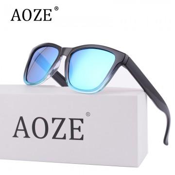 2017 AOZE Luxury Brand design men or women cool sunglasses Colored lenses Gafas Gradient Frame uv400 driving sport Polarized