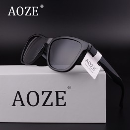 2017 AOZE Luxury Brand design men or women cool sunglasses Colored lenses Gafas Gradient Frame uv400 driving sport Polarized