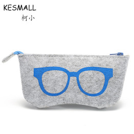 2017 Colorful Sunglasses Case For Women Men Glasses Box Felt Sunglasses Bag Eyeglasses cases For Men Eyewear Accessories YJ124