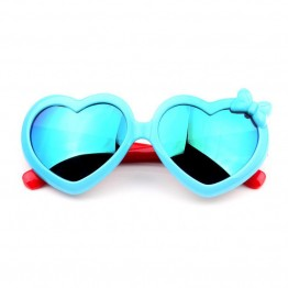 2017 Fashion Boys Girls Heart  Mirror Children Sunglasses Summer UV400 Vintage Colorful Fashion Sunglasses Children