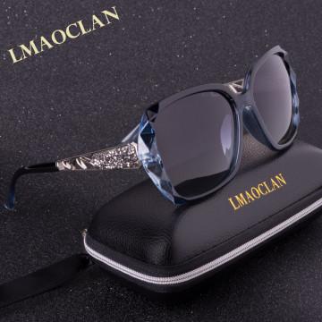 2017 Luxury Brand Design Polarized Sunglasses Women Ladies Elegant Big Sun Glasses Female Prismatic Eyewear Oculos De Sol Shades