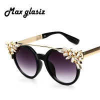 2017 Luxury Diamond Cat Eye Shades Sunglasses Women Unique Brand Designer Sun glasses Fashion Style Sunglasses UV400 Gafas