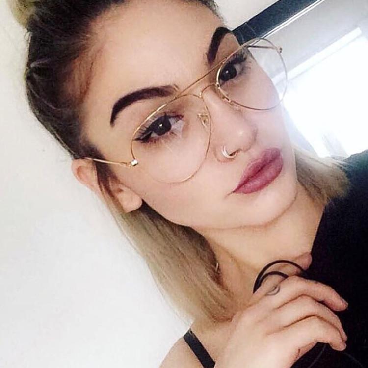 6cb766324ca 2017 New Aviator Glasses Women Classic Eyeglasses Rose Gold Metal Spectacle  Frame Clear Glasses Men Optical Glasses Frame OculosGlasses Frames