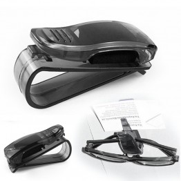 2017 New Black Car Glasses Holder Auto Vehicle Visor Sunglass Eyeglasses Business Bank Card Ticket Holder Clip  A1