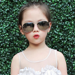 2017 New Fashion Boys Kids Sunglasses Aviator Style Brand Design Children Sun Glasses 100%UV Protection Oculos De