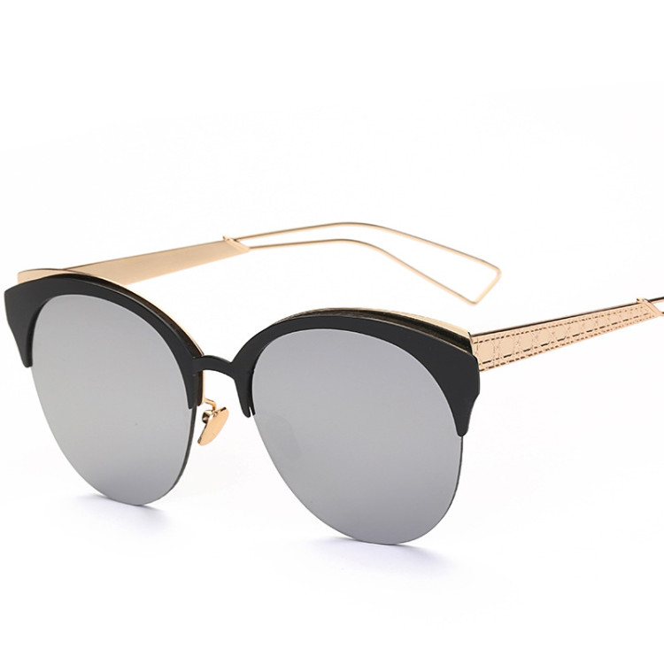 de683544e50f4 2017 Oversized cat eye sunglasses women vintage retro mirror sunglases  cateye sun glasses for women