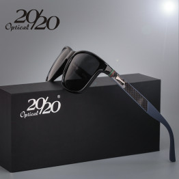 65c54403421 20 20 Brand Classic Polarized sunglasses Men Driving Square Black Frame Eyewear  Male Sun Glasses