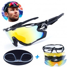 4 Lens Brand New Jaw Outdoor Sports Cycling Sunglasses Eyewear TR90 Men Women Bike Bicycle Breaker Cycling Glasses Goggles
