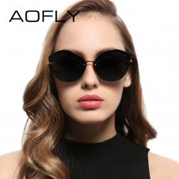 AOFLY 2017 Fashion Women Cat Eye Sunglasses Original Brand Design Sun Glasses Female Ultralight Glasses Mirror Lens UV400 AF7948