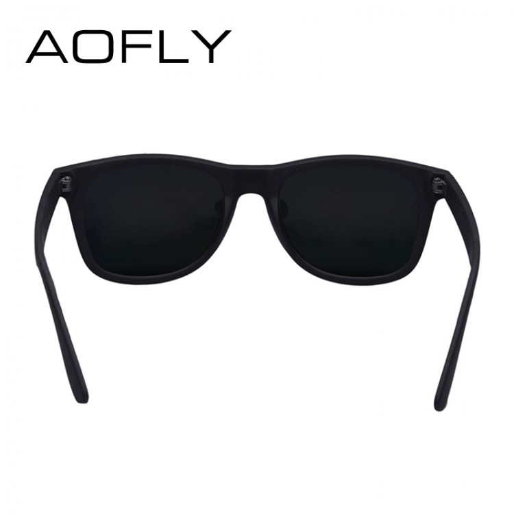 08aa1885031 AOFLY Fashion Sunglasses Men Polarized Sunglasses Men Driving Mirrors  Coating Points Black Frame Eyewear Male Sun Glasses UV400Men s Sunglasses