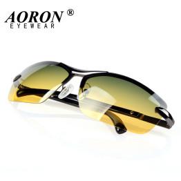 AORON Day & Night Vison Multifunction Men's Polarized Sunglasses Reduce Glare Driving Sun Glass Goggles Eyewear de sol