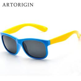 ARTORIGIN Polarized Sunglasses Kids Flexible Eyewear Square Frame Baby UV400 Sun Glasses Oculos De Sol Infantil AO2080