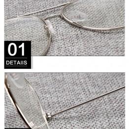Aviation Alloy Frame Sunglasses Female Classic Optics Eyeglasses Transparent Clear Lens Women Men glasses Optical Pilot Style