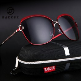 BARCUR Ladies Sunglasses Women Luxury Brand 2017 Female Retro Fashion Sunglasses 2017 Polarized Style Sun glass