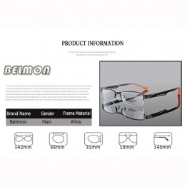 BELMON Spectacle Frame Eyeglasses Silhouette Men Computer Optical Eye Glasses Frame For Male Transparent Armacao Oculos de RS050