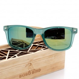 BOBO BIRD Brand Luxury Men and Women Polarized Sunglasses Bamboo Wood Holder Sun Glass with Retail Wood Box as Gifts 2017 G029