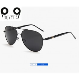 BOYEDA Classic Men Sunglasses Polarized UV400 Vintage Metal Brand Designer Sun Glasses for Men Retro Round Pilot Driving Eyewear