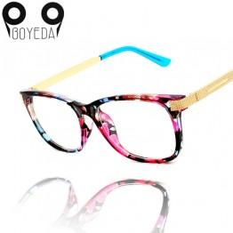 BOYEDA New High Quality Metal Female Grade Glasses Frame Eyeglasses Vintage Men Women Optical Computer Spectacle Eye Glasses