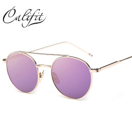 CALIFIT Ladies Pink Mirror Round Sunglasses Women  Luxury Brand Designer Lunette 2017 New Sun glasses For Women UV400 Lens Shade