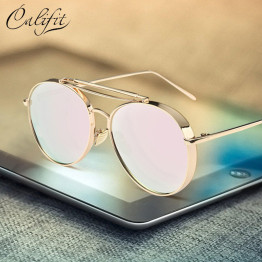 CALIFIT Mirror Pink Sunglasses Women Metal Frame Brand Designer Oculos Pilot Sun Glasses For Men Luxury Shades Female UV400