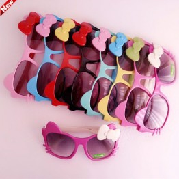 CRUOXIBB Kids Plastic Frame Sunglasses Children Girls Bownot Cartoon Cat crianca baby children Shades Eyeglasses Oculos De Sol