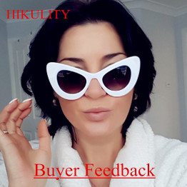 Cat Eye Sunglases Female Vintage Oval UV400 Oversize Cateye Sunglasses Women 2017 Luxury Brand Driving Sun Glasses Lunette Femme