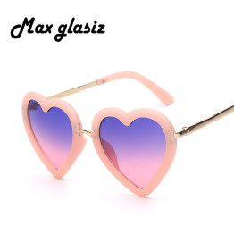 Children Kids Sunglasses Fashion Heart Shaped Cute UV400 Designer Frame Eyewear Baby Girls Sunglasses Sun Glasses Oculos De Sol