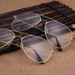 Clear Glasses Retro Eyeglasses Metal Gold Myopia Eyewear Women Men Spectacle Frames Optical Glasses Frame Transparent Lens