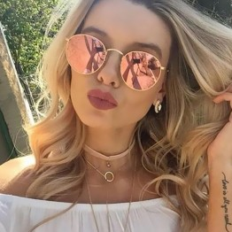 Coodaysuft Round Sunglasses Women Brand Designer Female  Point Sun Glasses Rayed Women Men Lady Mirror 2017 Vintage UV400