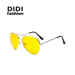 DIDI Day & Night Yellow Sunglasses Women Men Luxry Brand Oversized Aviator Driving Goggle Accessories Eyewear Lunette De So W309