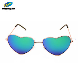 DIGUYAO Boys Girls Metal Frame Multicolour Kids Sunglasses Brand Designer Coating Fashion Girls Children Heart Shaped Glasses