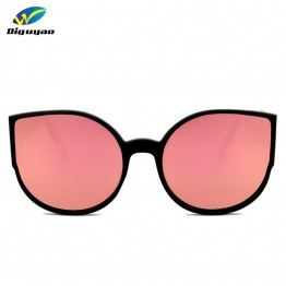 DIGUYAO Brand 2017 New Cat Eye Sunglasses Women Fashion Summer Style Big Size Frame Mirror Sunglasses Female Oculos UV400