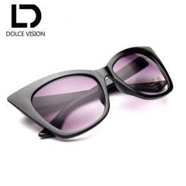 DOLCE VISION 2017 Fashion Cat Eye Sunglasses Women Sun Glasses Original Mirror Eyewear High Quality Sun New Gafas Oculos