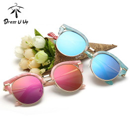 DRESSUUP 2016 Cat Eye Retro Kids Sunglasses Brand Designer Vintage Baby Boys Girls Children Sun Glasses Oculos De Sol Infantil