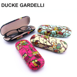 DUCKE GARDELLI Cute Owl animal Metal Sunglasses Optical Case Protable  PU Hard Eye Glasses Hard Case Eyewear Protector Box