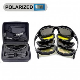 Daisy C5 Polarized Army Goggles, Military Sunglasses 4 Lens Kit, Men's Desert Storm War Game Tactical Glasses Sporting