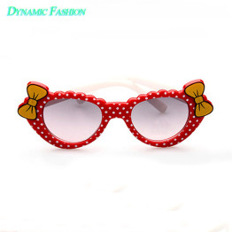 Dynamic-Fashion Lovely Girls Boys Eyeglasses Baby Sunglasses Kids Bow-knot Eyewear UV400 Protect 001