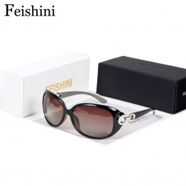 FEISHINI TAC HD Lens oculos de sol feminino Brand Designer TOP UV400 Protection glare Sunglasses Women Polarized  Luxury 2017
