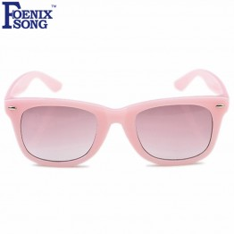 FOENIXSONG 2017 Fashion UV400 Protection Goggles Children Sunglasses Oculos de sol Kids Boys Girls Sun Glasses with Cases Gafas
