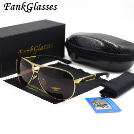 FankGlasses Men's brand designer polarized sunglasses Coating Mirror Sun Glasses oculos Male Eyewear Accessories For Men F8005