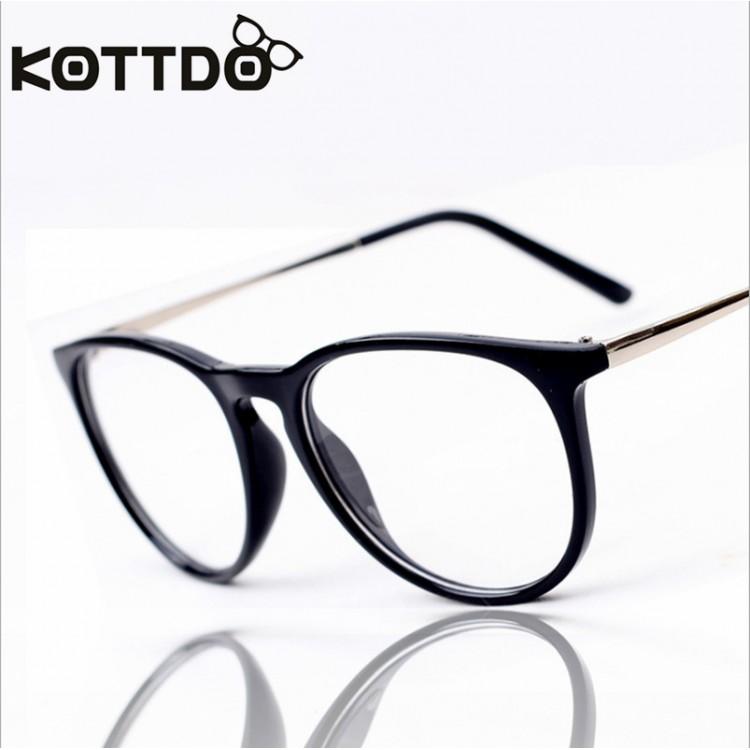 4a4a0c917cf28 Fashion Black Retro Eyeglasses Men Women Vintage Metal Optical Glasses  Frame Reading Glasses Myopia Eye Glasses Frame OculosGlasses Frames