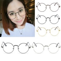 Fashion New Retro Round Mens Womens Nerd Glasses Clear Lens Eyewear Unisex Retro Eyeglasses Spectacles Unisex Oculos