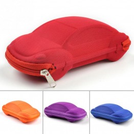 Fashion Solid Color Kids Car Shaped Packaging Case Box Compression Eye Glasses Storage Sunglasses Protector 1pcs