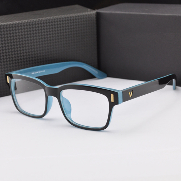 8a3637063585 Fashion V-Shaped Box Eye Glasses Frames Brand For Men New Women Computer  Frames Eyewear Vintage Armacao Oculos De GrauGlasses Frames