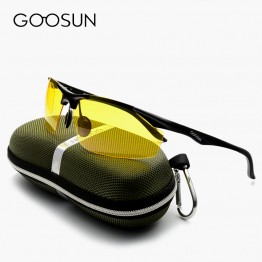 GOOSUN Aluminum Men's Polarized Sun Glasses Driving Fishing Outdoor Accessories Sunglasses For Men luxury brand Eyewears Gold