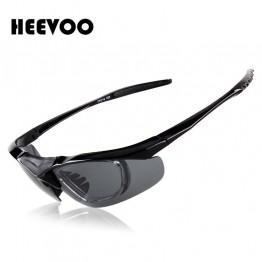 HEEVOO 2016 UV400 Men's Women's Running Sun Glasses Set Sports Goggles Sunglasses Set Eyewear